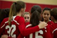 St Paul's School varsity and junior varsity volleyball with Andover.   ©2017 Karen Bobotas Photographer