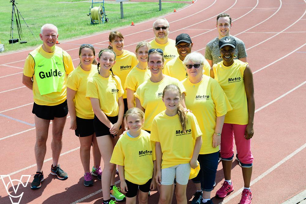 Metro Blind Sport's 2017 Athletics Open held at Mile End Stadium.  Volunteers<br /> <br /> Picture: Chris Vaughan Photography for Metro Blind Sport<br /> Date: June 17, 2017