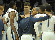 Villanova head coach Jay Wright gives direction to his players against IUP in the first half Saturday, November 5, 2016 at the Wells Fargo Center in Philadelphia, Pennsylvania. (WILLIAM THOMAS CAIN / For The Philadelphia Inquirer)