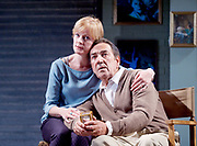 Prism <br /> by Terry Johnson <br /> at Hampstead Theatre, London, Great Britain <br /> press photocall <br /> 11th September 2017 <br /> <br /> <br /> Claire Skinner as Nicola <br /> <br /> Robert Lindsay as Jack Cardiff <br /> <br /> <br /> Designed by Tim Shortall<br /> Lighting by Ben Ormerod<br /> Sound by John Leonard <br /> Casting by Suzanne Crowley and Gilly Poole <br /> <br /> <br /> Photograph by Elliott Franks <br /> Image licensed to Elliott Franks Photography Services