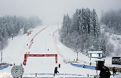 Course prior to the 1st Run of 50th Golden Fox Audi Alpine FIS Ski World Cup Ladies Slalom, on February 2, 2014 in Podkoren, Kranjska Gora, Slovenia. (Photo By Matic Klansek Velej / Sportida.com)