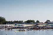 Plovdiv BULGARIA. 2017 FISA. Rowing World U23 Championships. <br /> <br /> Friday Boat Area. Boat Racks Pontoons.<br /> <br /> 08:14:37  Friday  21.07.17   <br /> <br /> [Mandatory Credit. Peter SPURRIER/Intersport Images].