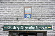 St Marys Submarine Museum in the Historic District of St Marys, Georgia. The tiny town is home to the U.S. Navy Kings Bay nuclear submarine base.