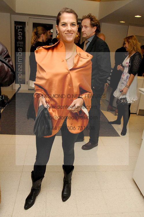 TRACEY EMIN at a party to celebrate the publication of Vivienne Westwood's Opus held at The Serpentine Gallery, Kensington Gardens, London W2 on 12th February 2008.<br />