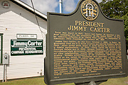 Jimmy Carter Presidential Campaign Headquarters in the old Seaboard Railroad Depot May 6, 2013 in Plains, Georgia.