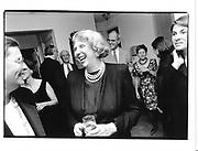 Joan Hamburg Ben Broadlee book Party 25sept'95© Copyright Photograph by Dafydd Jones 66 Stockwell Park Rd. London SW9 0DA Tel 020 7733 0108 www.dafjones.com