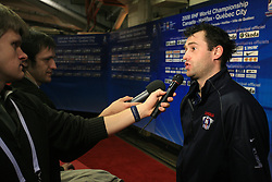 Tomaz Razingar at practice of Slovenian national team at Hockey IIHF WC 2008 in Halifax,  on May 06, 2008 in Metro Center, Halifax, Canada.  (Photo by Vid Ponikvar / Sportal Images)