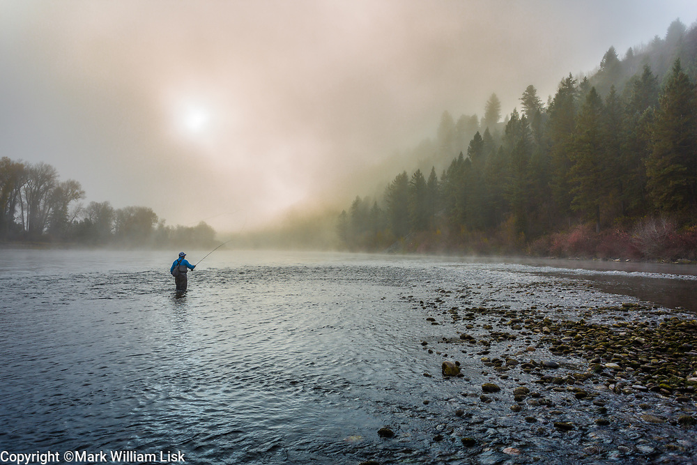 Blue ribbon fly fishing on the South Fork of the Snake River, Idaho