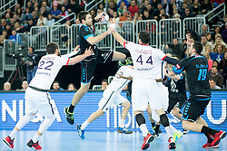 Nikola Karabatic #44 of Paris Sant-Germain during handball match between PPD Zagreb (CRO) and Paris Saint-Germain (FRA) in 11th Round of Group Phase of EHF Champions League 2015/16, on February 10, 2016 in Arena Zagreb, Zagreb, Croatia. Photo by Urban Urbanc / Sportida