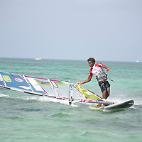 Fourth day of PWA Aruba Hi Winds Grand Slam Pro-AM. Final day for Freestyle. The winners STEVEN VAN BROECKHOVEN from Belgium and SARAH-QUITA OFFRINGA from Aruba. June 19-June 26, 2011.Jimmy Villalta & Valentina Calatrava