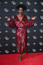 Lupita Nyong'o attending an exclusive screening of Us, Mr Peele's new film, at Picturehouse Central on Shaftesbury Avenue, London.