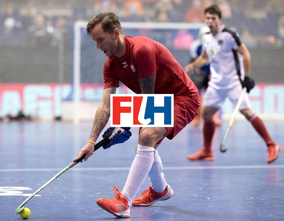 BERLIN - Indoor Hockey World Cup<br /> Quarterfinal 2: Austria - Poland<br /> foto: MIKULA Artur.<br /> WORLDSPORTPICS COPYRIGHT FRANK UIJLENBROEK