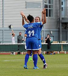 Jade Boho-Sayo of Bristol Academy Women celebrates her goal with Georgia Evans - Mandatory by-line: Paul Knight/JMP - Mobile: 07966 386802 - 13/09/2015 -  FOOTBALL - Stoke Gifford Stadium - Bristol, England -  Bristol Academy Women v Liverpool Ladies FC - FA WSL Continental Tyres Cup
