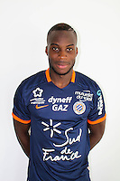 Yacouba Sylla during the photocall of Montpellier for new season of Ligue 1 on September 27th 2016 in Montpellier<br /> Photo : Mhsc / Icon Sport