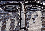 """Eye Stele"" funerary stele, 5th - 4th c. BC, Sandstone, Tayma, Saudi Arabia"