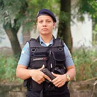 Patrol officer Meriane Barbosa, <br /> Rapid Response Team<br /> Pacifying Police Unit<br /> Complexo do Caju, Rio de Janeiro, Brazil