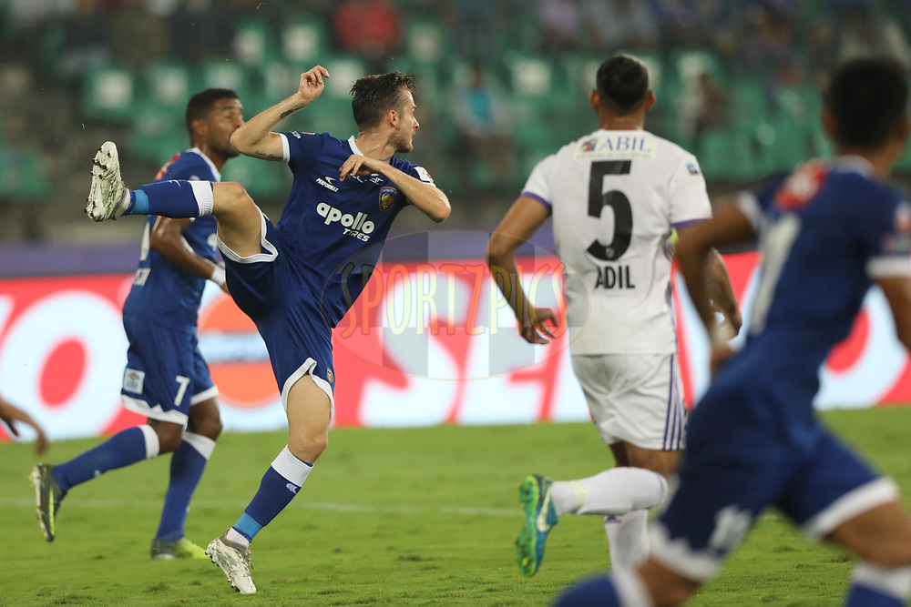Rene Mihelic of Chennaiyin FC during match 46 of the Hero Indian Super League between Chennaiyin FC and FC Pune City held at the Jawaharlal Nehru Stadium, Chennai India on the 13th January 2018<br /> <br /> Photo by: Arjun Singh  / ISL / SPORTZPICS