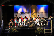 Graduation ceremony 2016, University of Falmouth, Cornwall, England, UK - Dawn French in centre