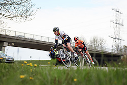 Romy Kasper (GER) and Julia Soek (NED) at Healthy Ageing Tour 2019 - Stage 3, a 124 km road race starting and finishing in Musselkanaal, Netherlands on April 12, 2019. Photo by Sean Robinson/velofocus.com