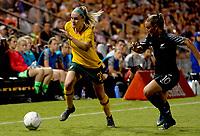 International Women's Friendly Matchs 2019 / <br /> Cup of Nations Tournament 2019 - <br /> Australia v New Zealand 2-0 ( Leichhardt Oval Stadium - Sidney,Australia ) - <br /> Ellie Carpenter of Australia (L) ,Challenges with Annalie Antonia Longo of New Zealand (R)