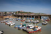 Small fishing boats moored in Folkestone Harbour, Folkestone, Kent. United Kingdom.  (photo by Andrew Aitchison / In pictures via Getty Images)