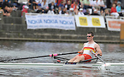 Gent, BELGIUM,   Tideway Scullers School, Gareth SHARPE, M1X, competing in the men's single, at the International Belgian Rowing Championships, Saturday 09/05/2009, [Mandatory Credit. Peter Spurrier/Intersport Images]