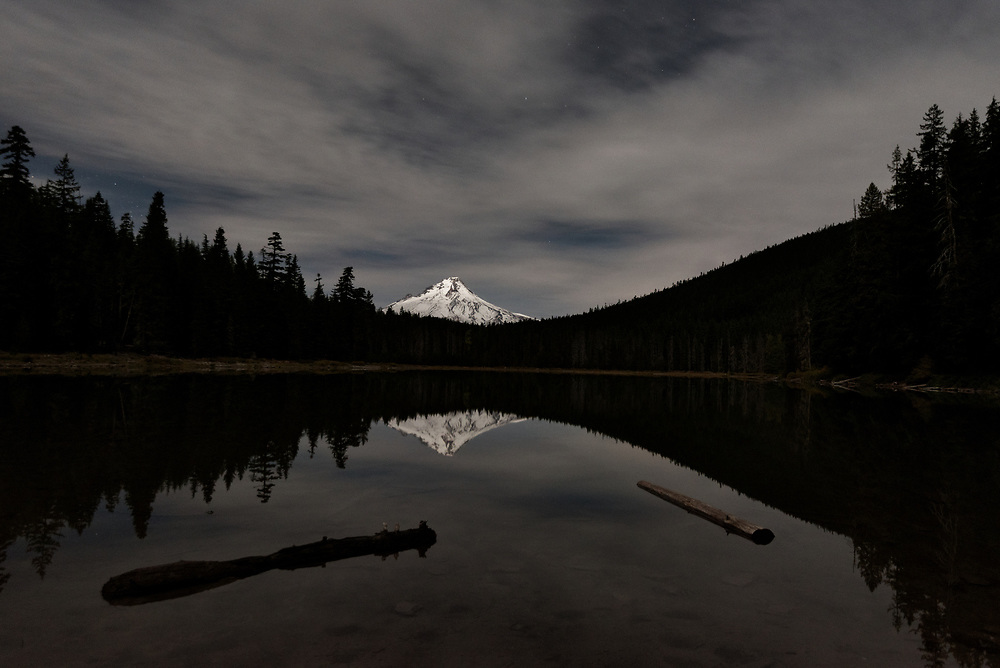 Mt Hood from Frog Lake just before dawn