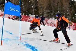 Behind the scenes, Athletes inspection of downhill course at the WPAS_2019 Alpine Skiing World Championships, Kranjska Gora, Slovenia