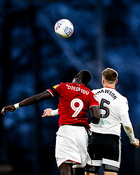 Famara Diedhiou of Bristol City and Alfie Mawson of Fulham - Rogan/JMP - 07/12/2019 - Craven Cottage - London, England - Fulham v Bristol City - Sky Bet Championship.