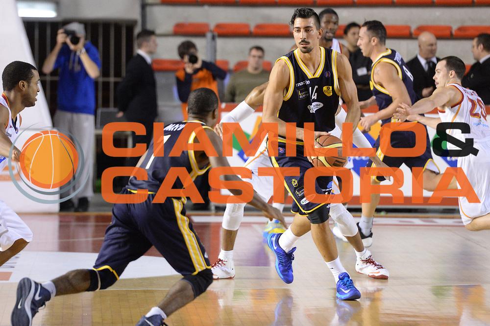 DESCRIZIONE : Campionato 2013/14 Acea Virtus Roma - Sutor Montegranaro<br /> GIOCATORE : Valerio Mazzola<br /> CATEGORIA : Controcampo Blocco Passaggio<br /> SQUADRA : Sutor Montegranaro<br /> EVENTO : LegaBasket Serie A Beko 2013/2014<br /> GARA : Acea Virtus Roma - Sutor Montegranaro<br /> DATA : 18/01/2014<br /> SPORT : Pallacanestro <br /> AUTORE : Agenzia Ciamillo-Castoria / GiulioCiamillo<br /> Galleria : LegaBasket Serie A Beko 2013/2014<br /> Fotonotizia : Campionato 2013/14 Acea Virtus Roma - Sutor Montegranaro<br /> Predefinita :