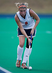 Virginia Cavaliers M/B Abby Taylor (8)..The Virginia Cavaliers field hockey team faced the California Bears at the University Hall Field Turf in Charlottesville, VA on October 4, 2007.