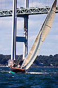 Kestrel sailing in the Museum of Yachting Classic Yacht Regatta.