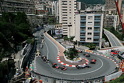 MONTE-CARLO, MONACO - Sunday, May 24, 2009: The cars snake past Hotel Mirabeau corner during the Monaco Formula One Grand Prix at the Monte-Carlo Circuit. (Pic by Juergen Tap/Hoch Zwei/Propaganda)