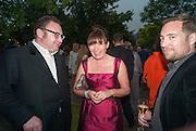 JONATHAN SHALLIT; LORRAINE KELLY, Serpentine Summer party 2012 sponsored by Leon Max. Pavilion designed by Herzog & de Meuron and Ai Weiwei. Kensington Gardens. London. 26 June 2012.
