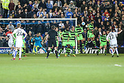 Tranmere Rovers Adam Buxton(22) takes a free kick during the Vanarama National League match between Tranmere Rovers and Forest Green Rovers at Prenton Park, Birkenhead, England on 11 April 2017. Photo by Shane Healey.