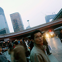 BEIJING, MARCH 21, 2008 :   people after work in the Central Business District.