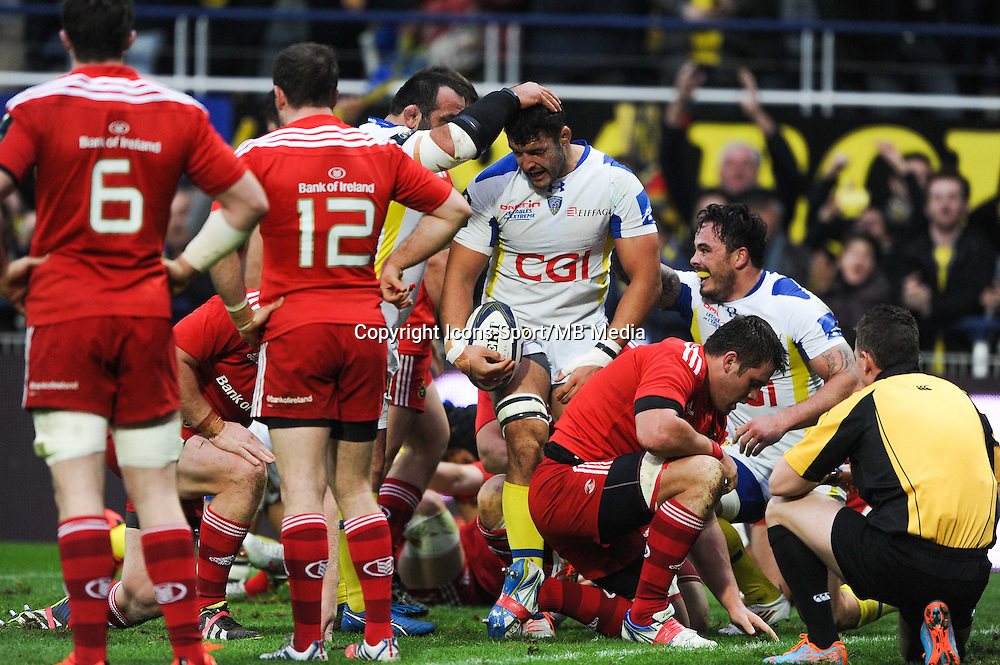 JOIE DE Damien CHOULY - 14.12.2014 - Clermont / Munster - European Champions Cup <br /> Photo : Jean Paul Thomas / Icon Sport