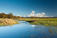 River Thames downstream of the source at Kemble, Gloucestershire, Uk
