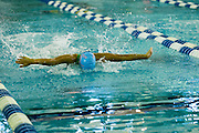Jamie Lee competing in the 100 Yard Butterfly event in the 2016 NYSPHSAA Swimming and Diving Championships held at Ithaca College on Saturday.