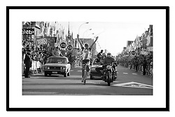 Fons de Wolf, Het Volk 1982<br /> <br /> Crossing the finish line in Ghent.