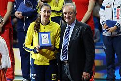 SHEILLA CASTRO DE PAULA BLASSIOLI  BEST OPPOSITE SPIKER<br /> AWARDING CEREMONY<br /> VOLLEYBALL WOMEN'S WORLD CHAMPIONSHIP 2014<br /> MILAN 12-10-2014<br /> PHOTO BY FILIPPO RUBIN