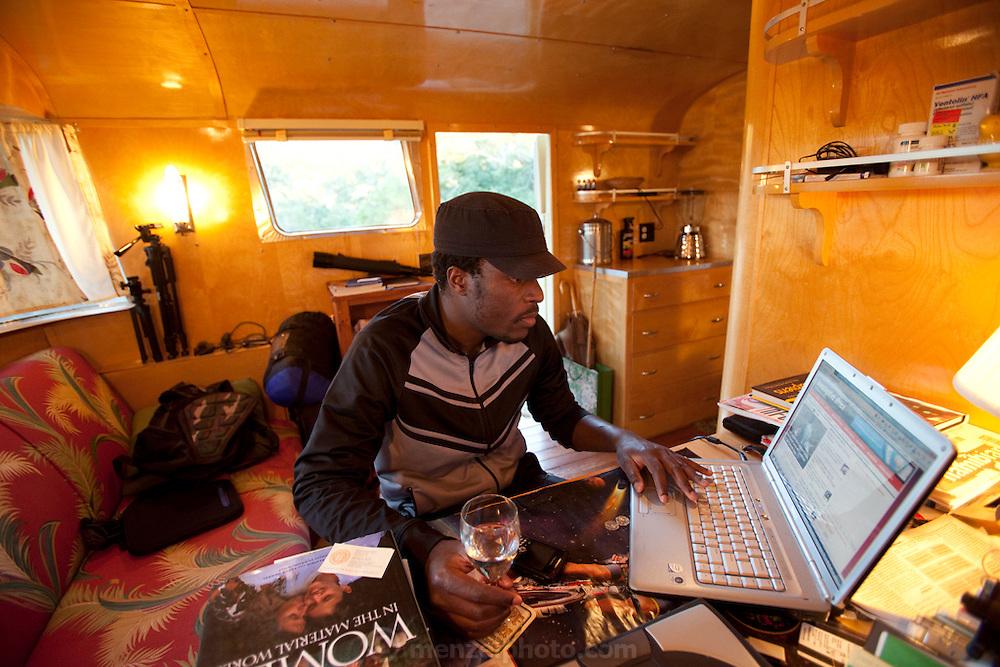 Tawanda Kanhema, jounalist from Zimbabwe, in Napa, CA