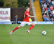 Coventry City Midfielder, Ryan Kent about to run through the bury midfield during the Sky Bet League 1 match between Bury and Coventry City at Gigg Lane, Bury, England on 26 September 2015. Photo by Mark Pollitt.