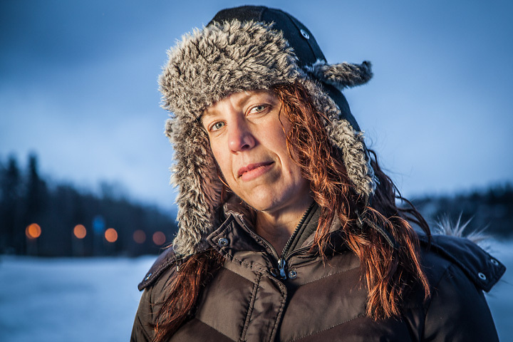 """Carrie Tavernier at Westchester Lagoon, Anchorage  """"We like Alaska…not too sure about Anchorage…we want to explore the real Alaska.""""  carittt@yahoo.com"""