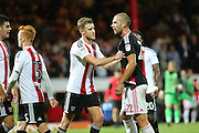 Nottingham Forest midfielder Pajtim Kasami (22)  not happy after final whistle during the EFL Sky Bet Championship match between Brentford and Nottingham Forest at Griffin Park, London, England on 16 August 2016. Photo by Matthew Redman.