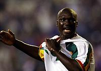 Fotball. VM 2002. 31.05.2002.<br /> Frankrike v Senegal 0-1.<br /> Papa Boupa Diop fra Senegal.<br /> Foto: Franck Faugere, Digitalsport<br />  *** Local Caption *** 20000599