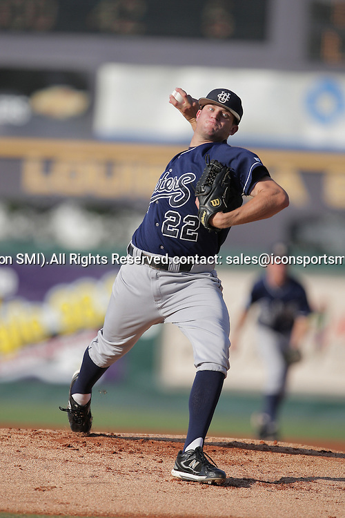 09 June 2008:  UC Irvine starting pitcher Bryce Stowell was pounded for six runs in just two thirds of an inning of work before being replaced in the first inning of play against LSU.  The LSU Tigers advanced to the College World Series with a 21-7 victory over the UC Irvine Anteaters in game three of the NCAA Baseball Baton Rouge Super Regional Alex Box Stadium in Baton Rouge, LA..