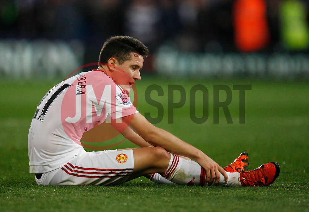Ander Herrera of Manchester United looks dejected at the final whistle  - Mandatory byline: Jack Phillips/JMP - 07966386802 - 31/10/2015 - SPORT - FOOTBALL - London - Selhurst Park Stadium - Crystal Palace v Manchester United - Barclays Premier League