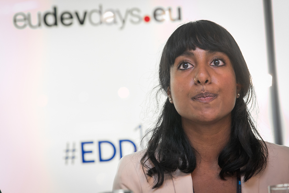 03 June 2015 - Belgium - Brussels - European Development Days - EDD - Health - Access to sexual and reproductive health and rights - A prerequisite for youth economic empowerment - Preethi Sundaram , IPPF Policy and Advocacy officer , SRHR and economic empowerment of young women © European Union