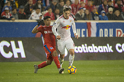 March 1, 2018 - Harrison, New Jersey, United States - New York Red Bulls midfielder ALEX MUYL (19) controls the ball during the CONCACAF Champions league match at Red Bull Arena in Harrison, NJ.  NY Red Bulls defeat CD Olimpia 2-0  (Credit Image: © Mark Smith via ZUMA Wire)